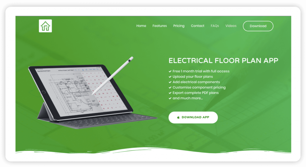 proj cover electrical floor plan